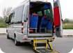 Mercedes Mini Buses with ramps for wheelchairs (up to 5 wheelchairs & 5 pax)